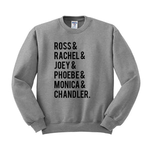 Friends Name List Crewneck Sweatshirt - Femfetti