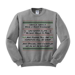 Friends Christmas Song Crewneck Sweatshirt - Femfetti