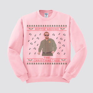 Hoppin' Around The Christmas Tree Ugly Christmas Sweatshirt - Femfetti