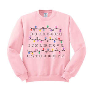 Strange Things Christmas Sweater Alphabet Lights