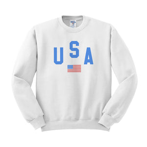 USA Flag Sweatshirt - Femfetti