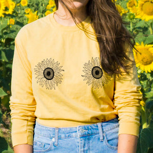Sunflower Long Sleeve Tee - TeesAndTankYou