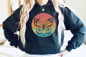 Retro Butterfly Hoodie