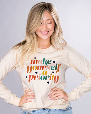 Make Yourself A Priority Long Sleeve