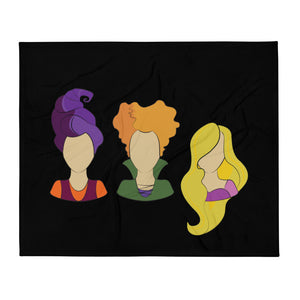 Hocus Pocus Heads Throw Blanket