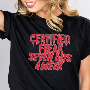 Certified Freak Horror Shirt