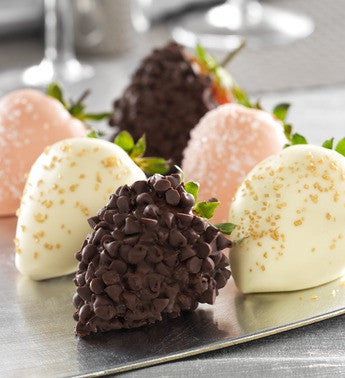 Glamorous Champagne Infused Chocolate Strawberries