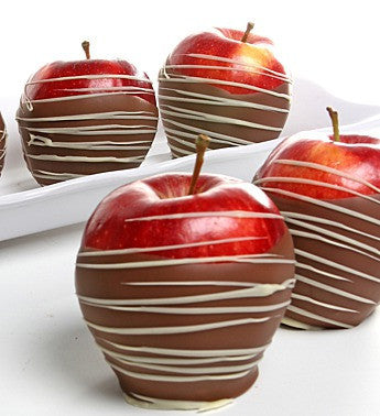 Fresh Chocolate Swirl Apples