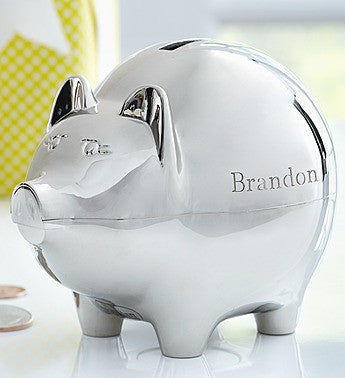 Engraved Piggy Bank