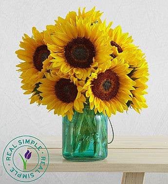 Mason Jar Sunflower Bouquet