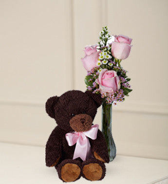 Pink Roses and Bear Hugs