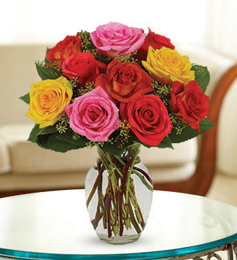 Vibrant Colored Roses