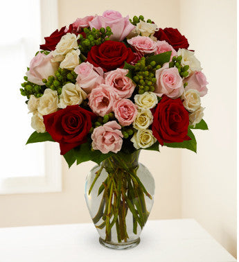 Mixed Rose Love Arrangement