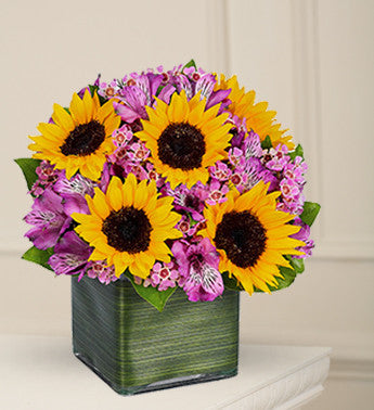 Luminous Sunflower Arrangement