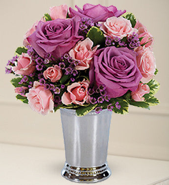Purple and Pink Spring Arrangement