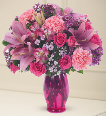 Vivacious Purple and Pink Bouquet