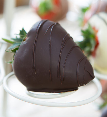 Dark Dipped Strawberries