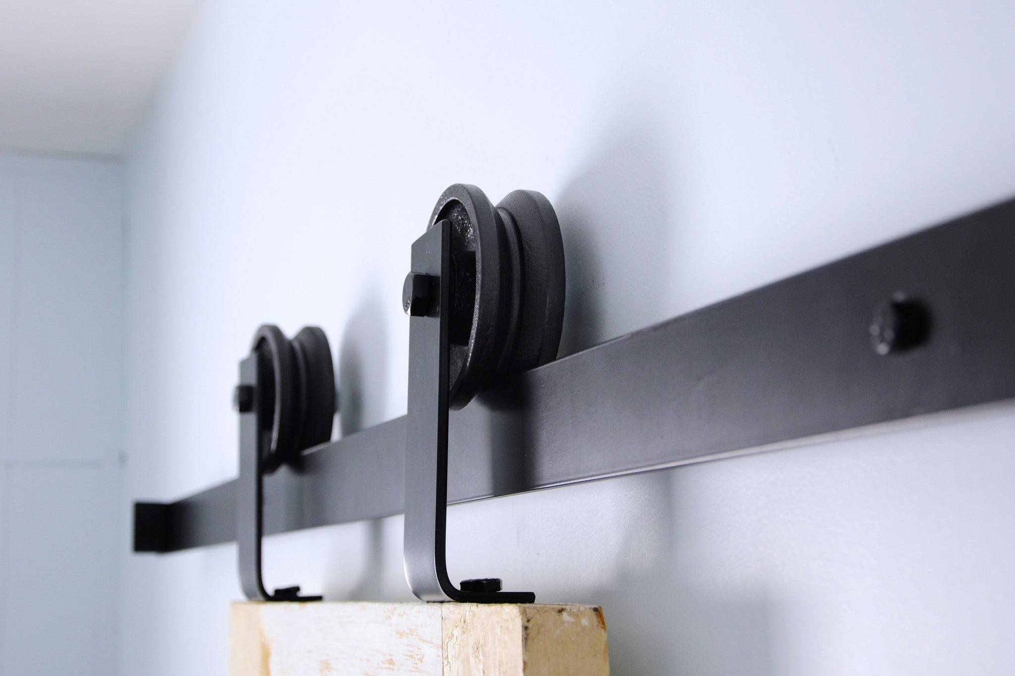 top mount barn door hardware track