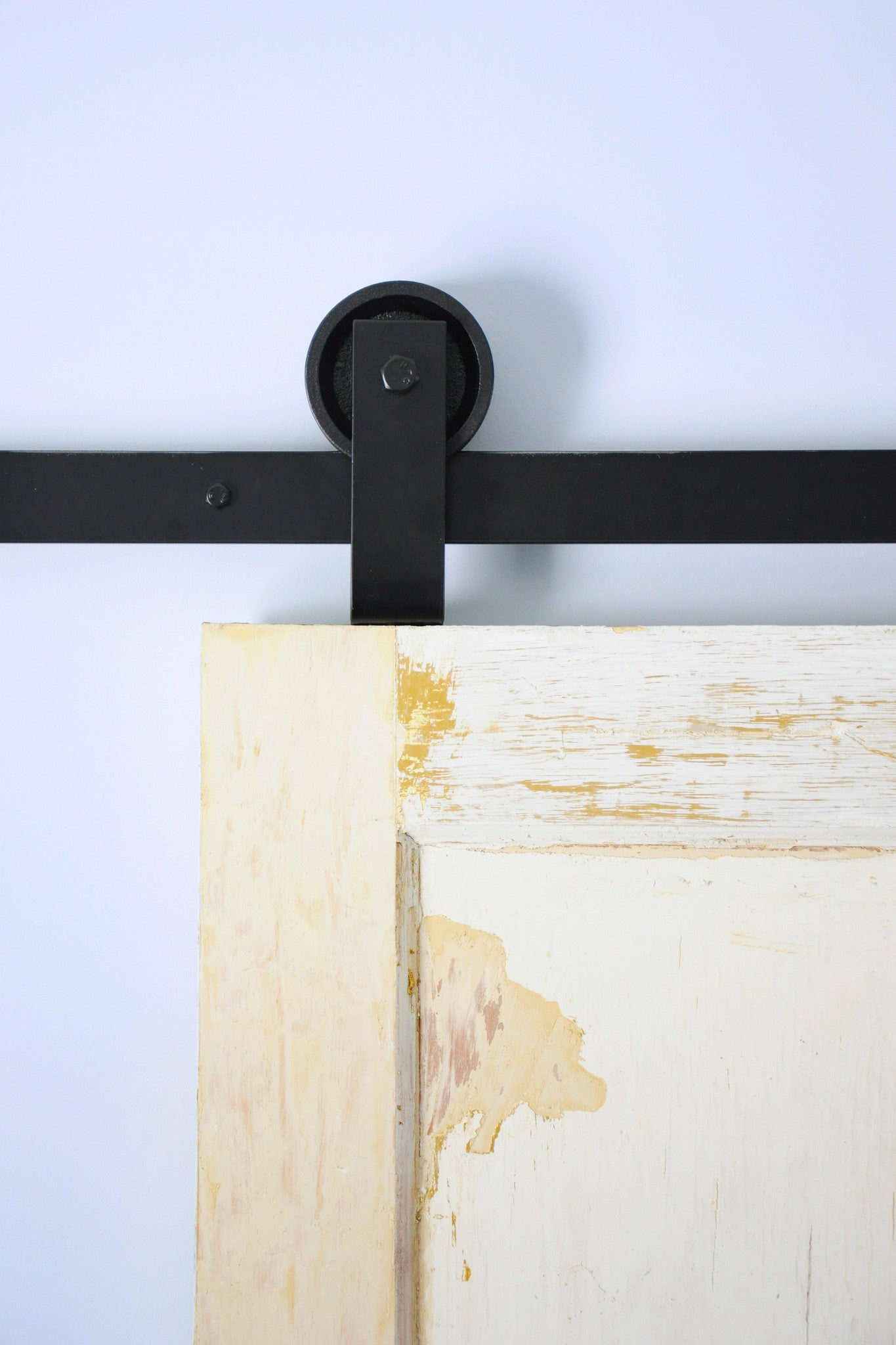 top mount barn door hardware minimalist design