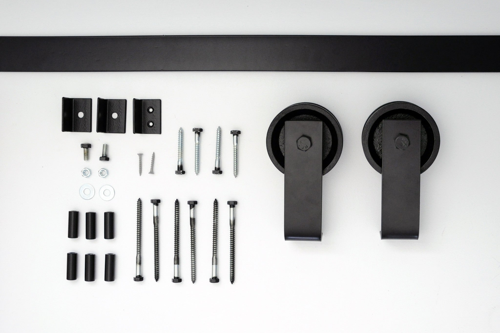 top mount barn door hardware kit