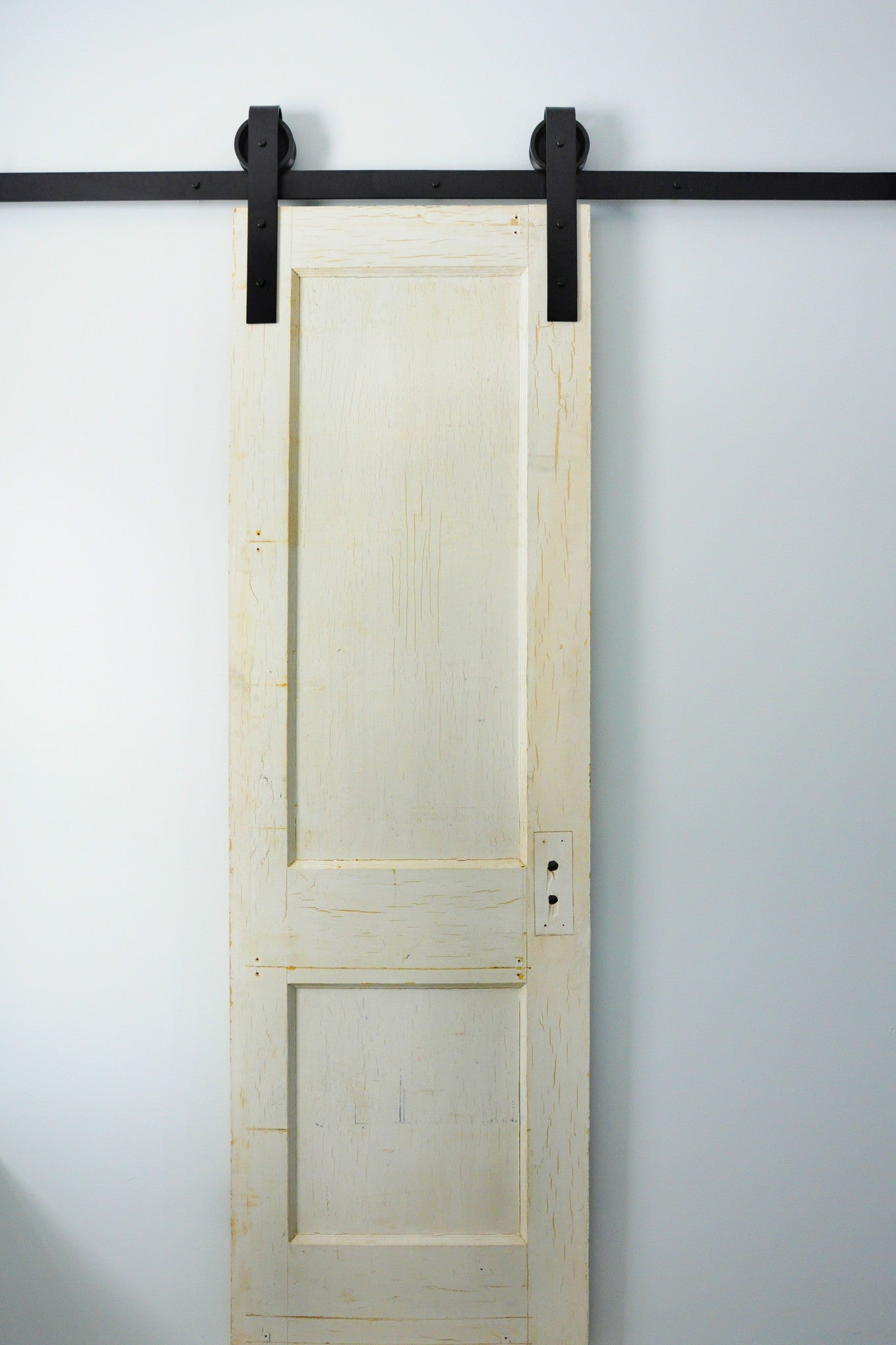 Traditional Sliding Double Barn Door Hardware black