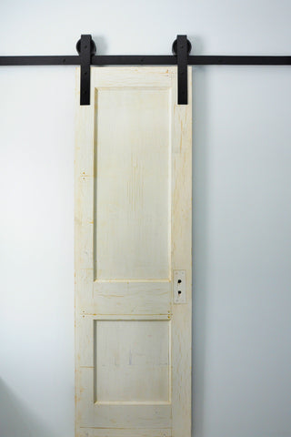 Traditional sliding barn door hardware black