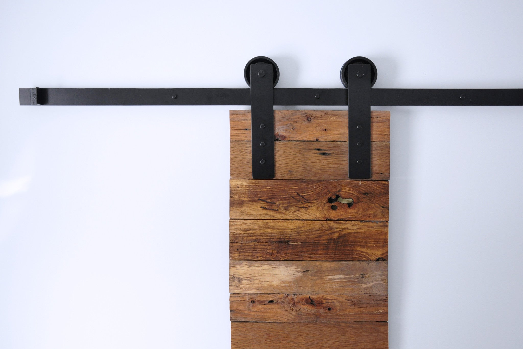 double barn door hardware black