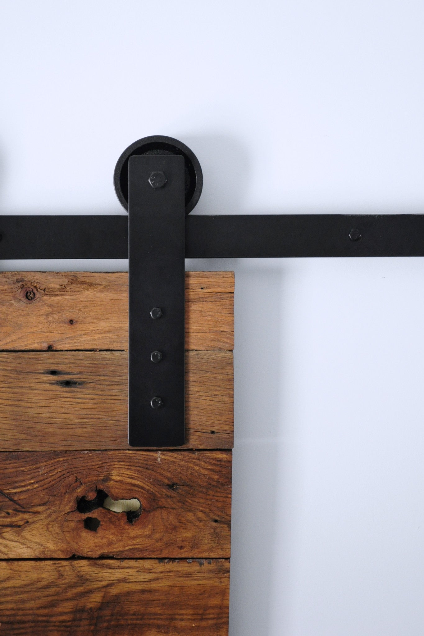 black barn door hardware track and wheel