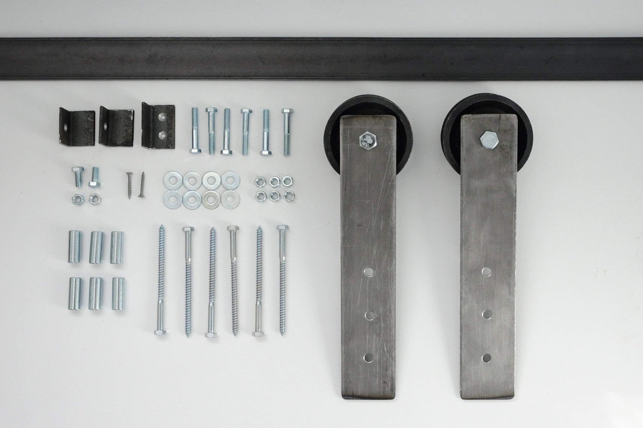 double barn door hardware kit