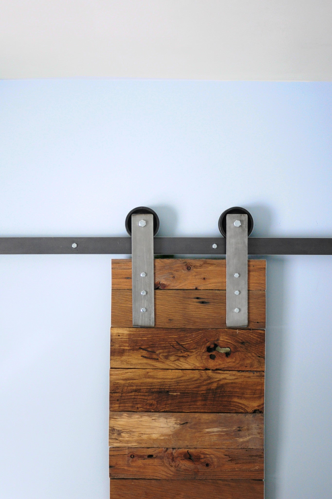 raw steel barn door hardware