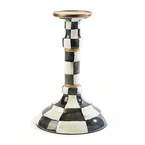 https://www.janeleslieco.com/products/mackenzie-childs-courtly-check-enamel-candlestick-middling