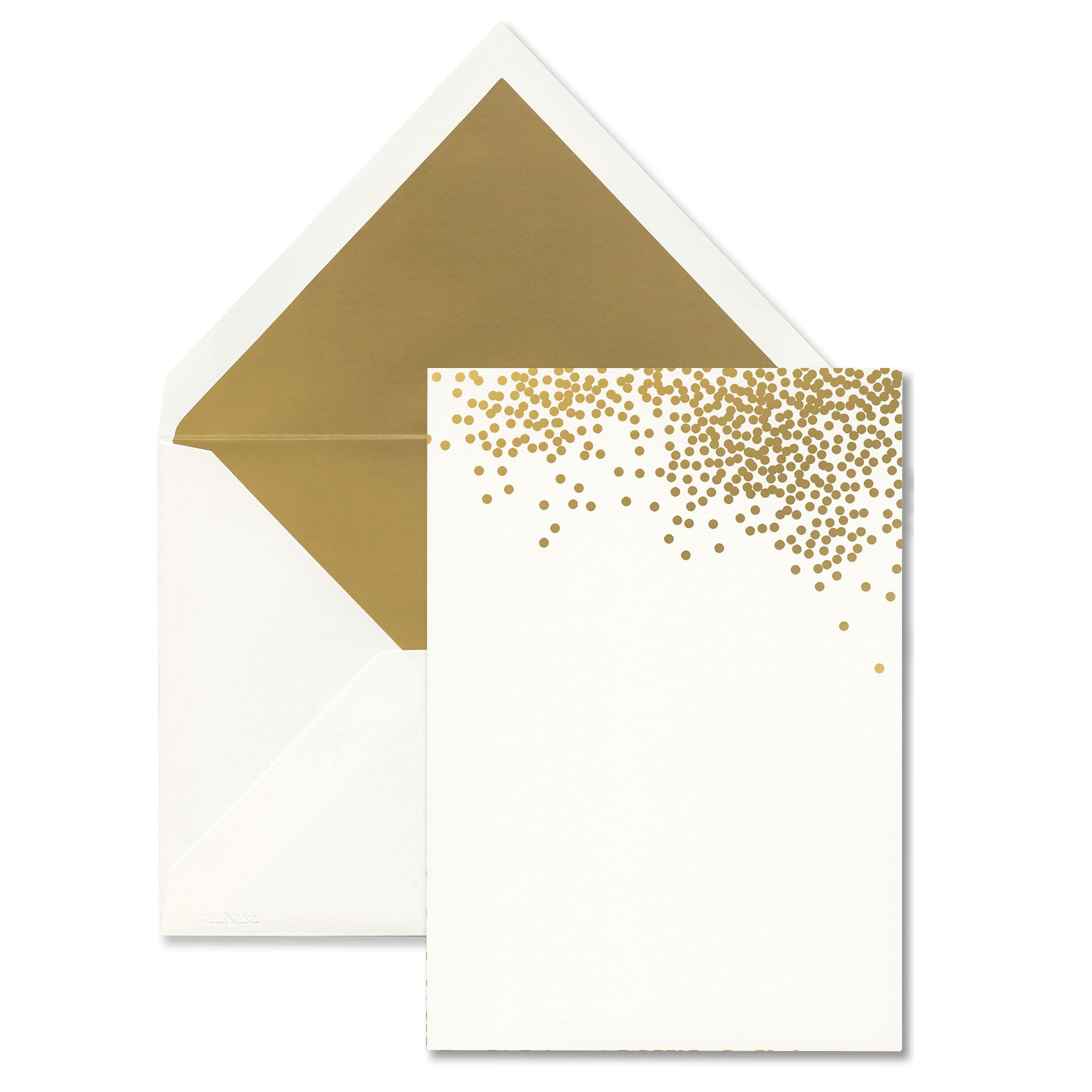 picture about Printable Invitations identified as Vera Wang Gold Confetti Printable Invites