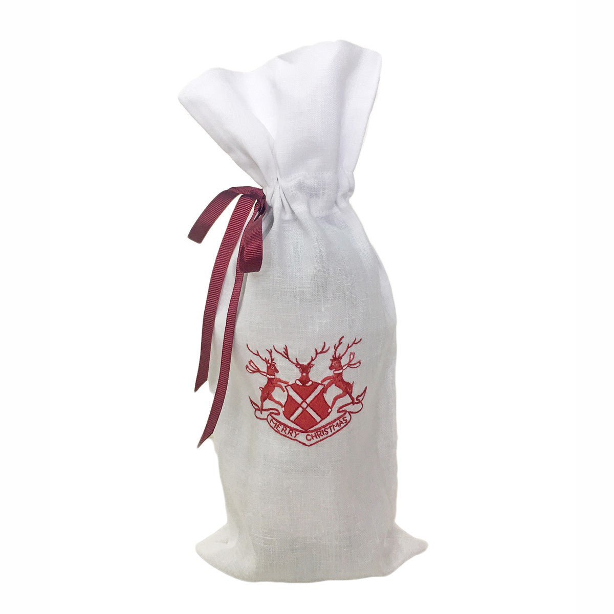 Juliska Country Estate Reindeer Games Merry Christmas Ruby Wine Bag ...