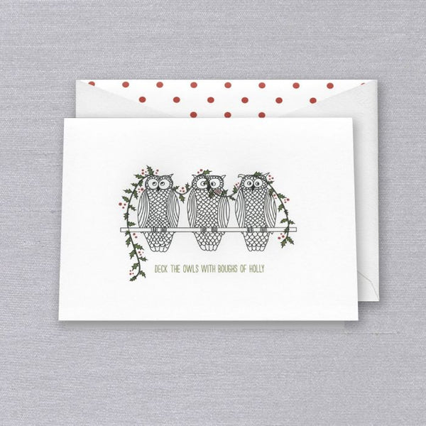 https://www.janeleslieco.com/products/crane-co-deck-the-owls-holiday-boxed-greeting-cards