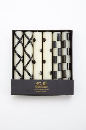 https://www.janeleslieco.com/products/mackenzie-childs-glow-ivory-black-taper-set