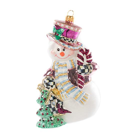 MacKenzie-Childs Glass Ornament - Home Sweet Snowman