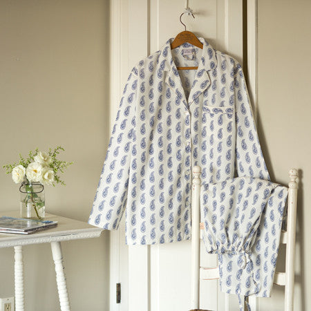 Taylor Linens Indigo Paisley Pajama Set ON SALE - Jane Leslie and Co. f2c6def94