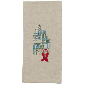 Coral & Tusk Santa's Elf Bulldog Tea Towel