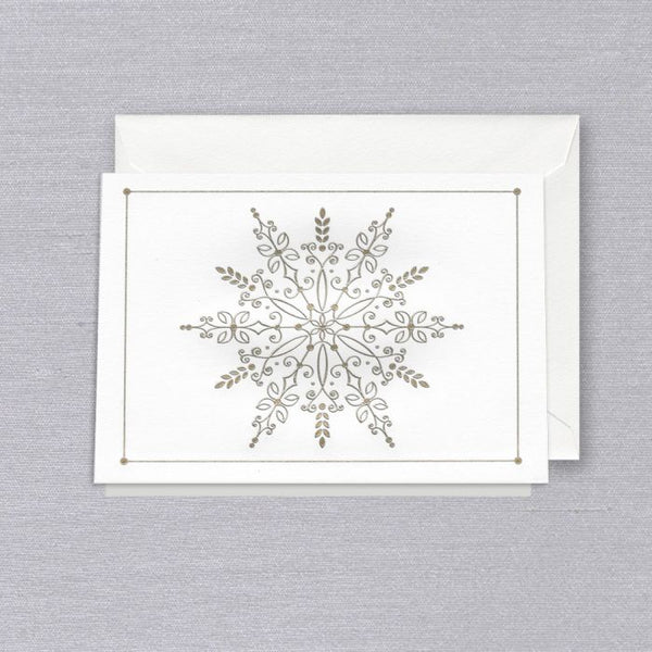 https://www.janeleslieco.com/products/crane-co-silver-and-gold-snowflake-folded-note