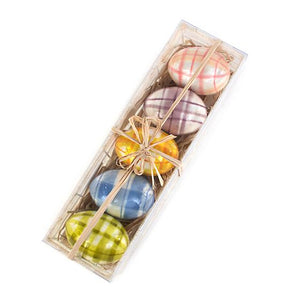 MacKenzie-Childs Spring Has Sprung Tartan Eggs - Set of 5