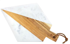 https://www.janeleslieco.com/products/be-home-white-marble-acacia-geometric-angle-board