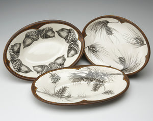 Laura Zindel Small Server: Pine Boughs