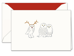 Crane & Co. Vera Wang Engraved Snowy Parliament Holiday Greeting Card