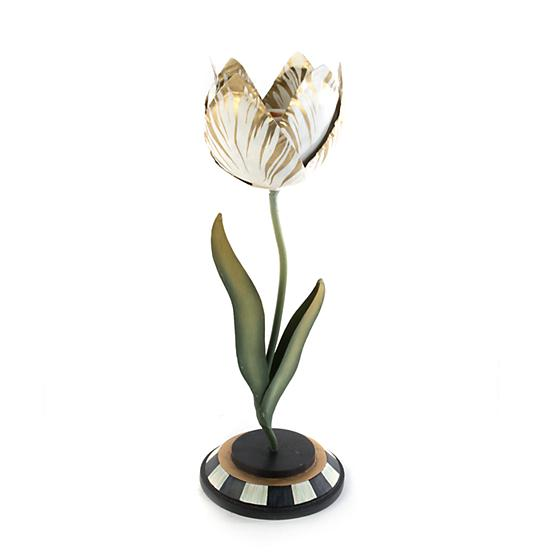 Mackenzie-Childs Tulip Candle Holder - Gold & Ivory - Small