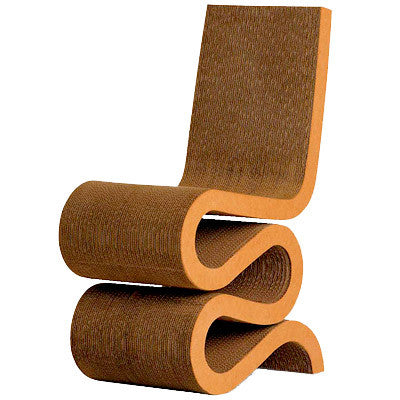 Modern Design Cardboard Wiggle Chair