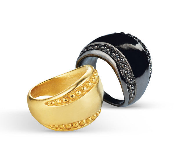 "Gold Dome Ring <br> ""Oculus"""