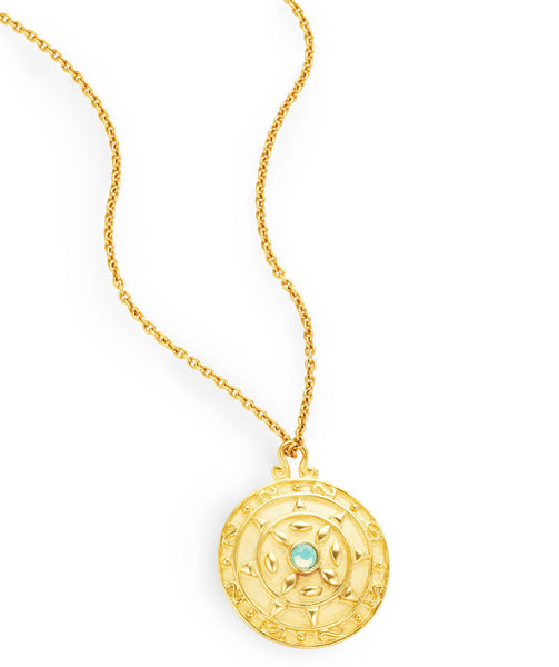"Luxury Gold Pendant ""Bouclier"""