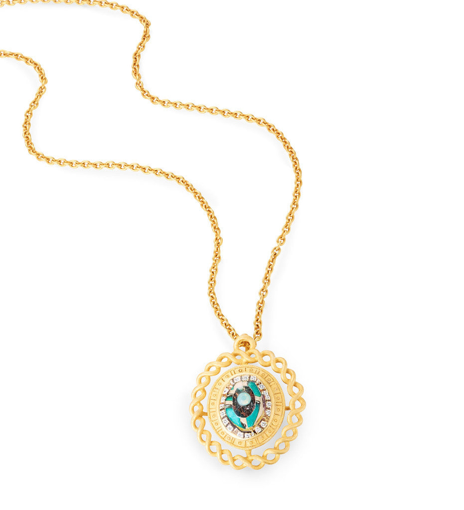 "Gold Pendant Necklace ""Fiore"""