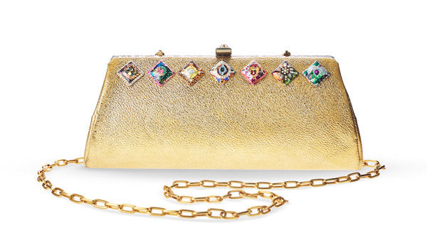 "Gold Crossbody Bag <br> ""Fifty Four"""