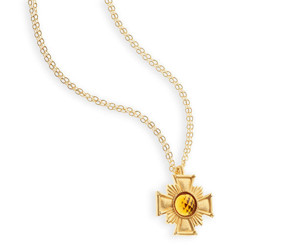 "Gold Medallion Cross <br> ""Victoria"""